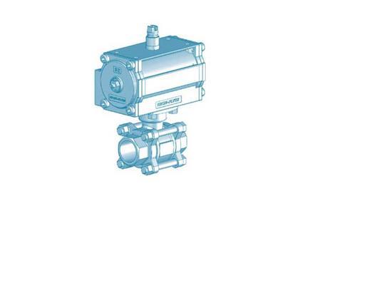 不锈钢气动球阀(pneumatic ball valve)