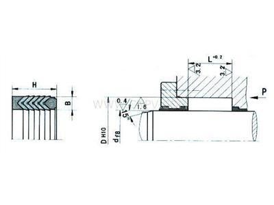 V型夹布密封圈(HG4-337-66)