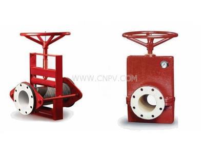 进口手动管夹阀,美国红阀中线关闭管夹阀(70/75系列)