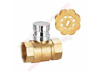 磁性锁闭球阀,黄铜防盗球阀-螺纹防盗阀(FDQ11F)