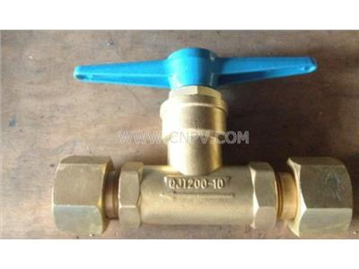 QJT200-10铜直通式截止阀优惠批发(QJT200-10)