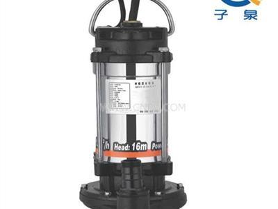 不锈钢机筒清水泵,机筒不锈钢清水泵(QDX1.5-17-0.37)