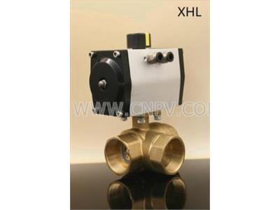 XHL三通电动球阀 高平台电动阀门 四方(XHL三通电动球阀 高平台电动阀门 四方)