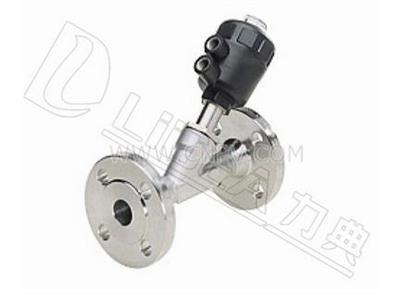 上海力典阀门气动法兰角座阀-气动阀(LDY2002系列 气动法兰角座阀)