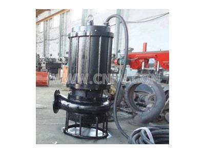 水庫魚塘清淤用抽砂泵,船陸兩用潛水排砂泵(JSQ)