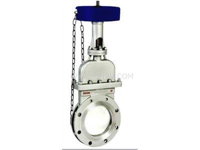DMZ73X-10P鏈輪式暗桿刀閘閥(DMZ73X-10P鏈輪式暗桿刀閘閥)