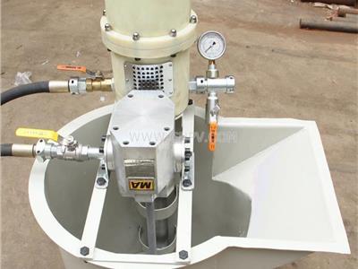 礦用氣動注漿泵價格參數配套攪拌桶(ZBQ)