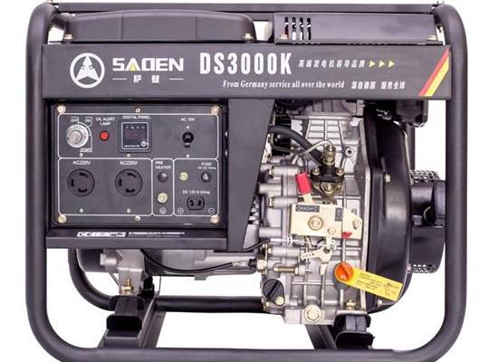 萨登3KW柴油发电机工地户外