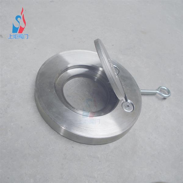 厂家现货H74W对夹圆片式不锈钢止回阀 内夹圆板对夹单向阀