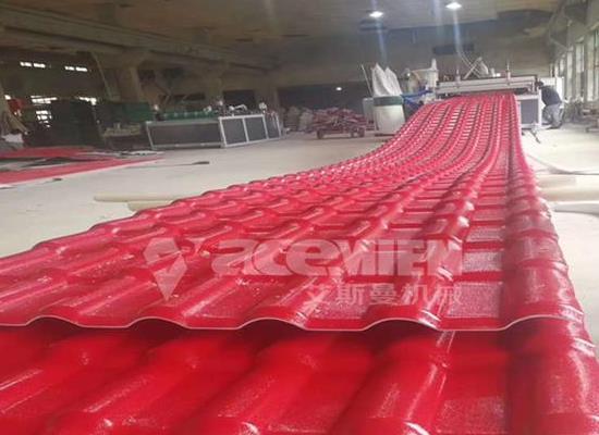 江蘇樹脂瓦設備生產廠家、PVC塑料琉璃瓦設備生產線
