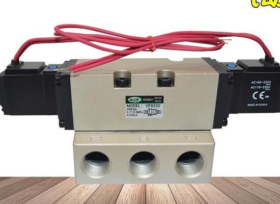 VF6220雙線圈2位5通電磁閥二位五通氣缸換向切換閥