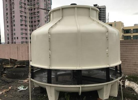 10T-300T逆流式圆形玻璃钢冷却水塔水泵供应