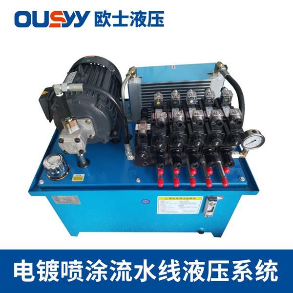 OS100L液压泵站 电镀喷涂流水线液压系统 液压动力站