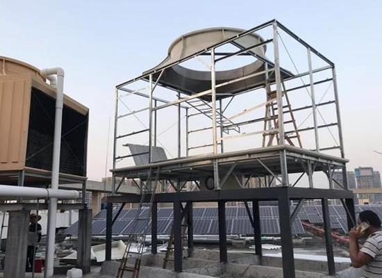 强度高100T横流式方形玻璃钢冷却塔优惠供应