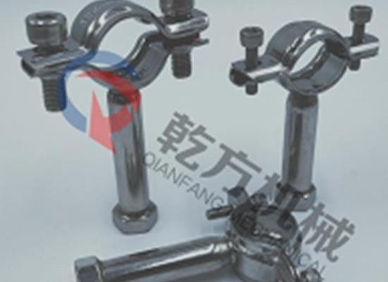 不锈钢304 316L管支架/管托/带底座管支架/焊接管支架