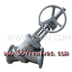 料漿閥-傘齒輪Y型料漿閥(Y型)