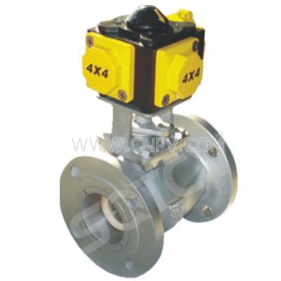 陶瓷气动V型球阀(Q641TC-10-100)