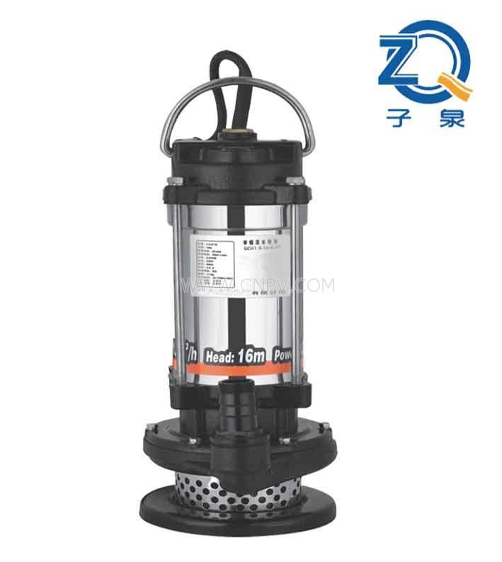 不锈钢地步了机筒清水泵,机筒不锈钢清水这家伙泵(QDX1.5-17-0.37)