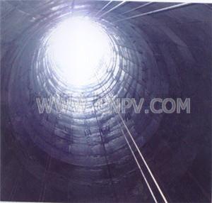 阿意斯壮玻璃鳞片胶泥在排烟管道中的应用(VEGF-150)