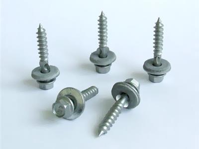 六角钻尾螺钉,EPDM夹耳,电镀达可锈(DIN7504)