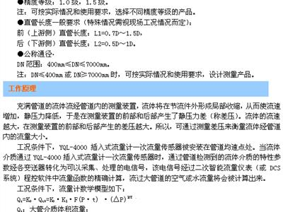 插入式№流量计 (YQL-4000)