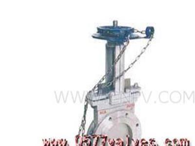 PZL3H-X链轮对夹式刀形闸阀(PZL3H-X)