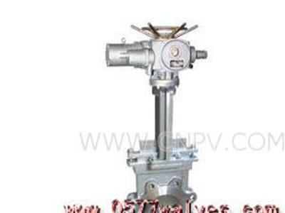 电动刀形闸阀-气动刀形闸阀说明(Pz973X-F-H-Y)