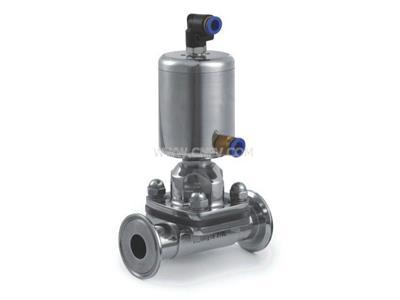 卫生级气动隔膜阀,快装 呼隔膜阀,不锈钢隔膜(20-150mm)
