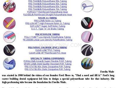 塑料软管 - Freelin-wade(1B-156-06,1B-156-07)