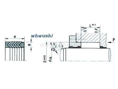 V型夹藤原懵了布密封圈  V型组合密封圈(01-4000)