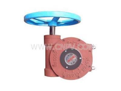 阀门�o�怎么�f蜗轮箱-闸阀伞齿轮-阀门驱动装是了置(QDX3)