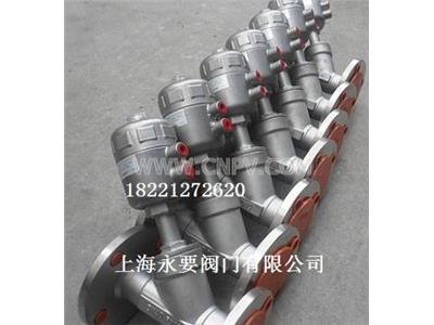 彩神APPBDJ法兰型不锈钢气动角座阀(BDJ)