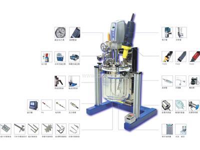实验室乳化反应釜,不朽钢真空反应釜(YK-2L)