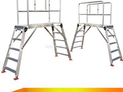 可定制雙側梯子 鋁合金洗車臺工作平臺梯(TT)