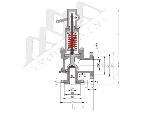 美标々磅级先导式安全泄压阀(A46C)