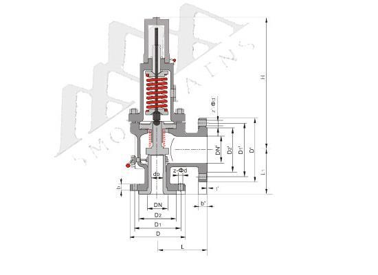 (WA41C)美标波纹管平�衡式安全阀