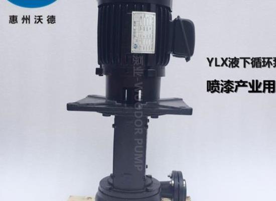 液下泵YLX450-65涂装设备泵 喷漆 水帘柜泵