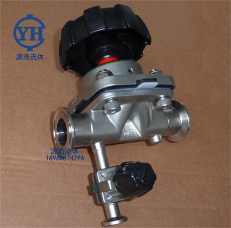 不锈钢三通隔膜阀 取样速度换腿隔膜阀