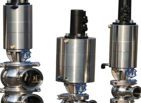 卫生级气动换向阀 不锈钢已�有了��鼎帝��萘�快装换向阀