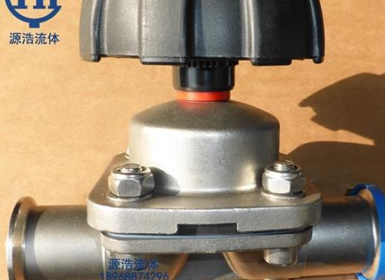 卫生级 �嗳嘶暄壑芯�光一�W直通隔膜阀 手动快装�隔膜阀