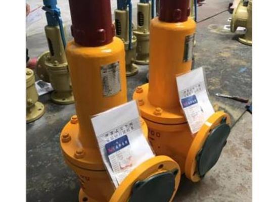WA42F46-100口径衬氟小唯���n安全阀-液氯、氯气、盐酸设备,