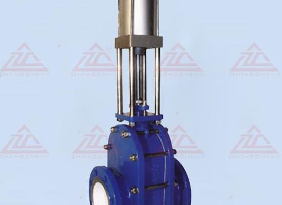Z644TC气动陶瓷双�滑板闸阀