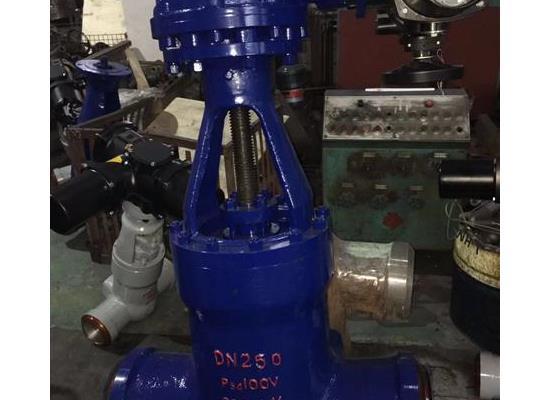 Z61Y-100I铬钼钢����低喝一�电站高温高压焊接闸阀