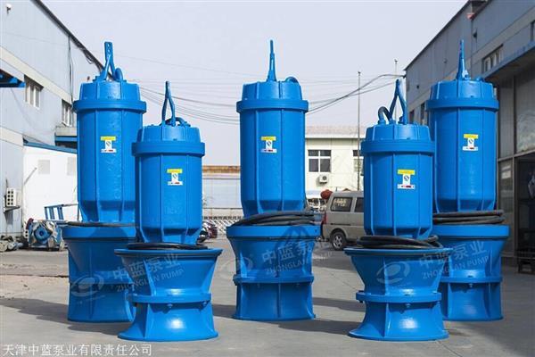 老旧泵站改造QZB潜水轴流泵厂家井筒拍门轴流泵配件生产