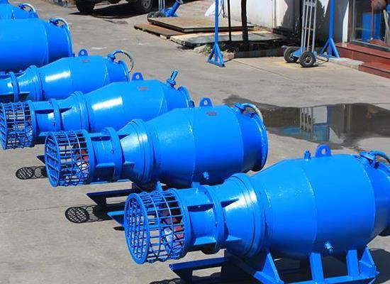 老旧泵站改造QZB潜水轴流泵厂家井筒拍门轴流而他泵配件生产