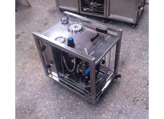 小型气液水压试验机 不锈钢框架式水压试验机