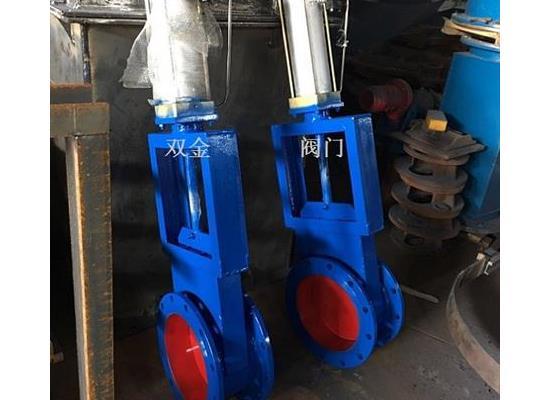 LCQ-1气动圆形插板阀、温州双金阀门供应