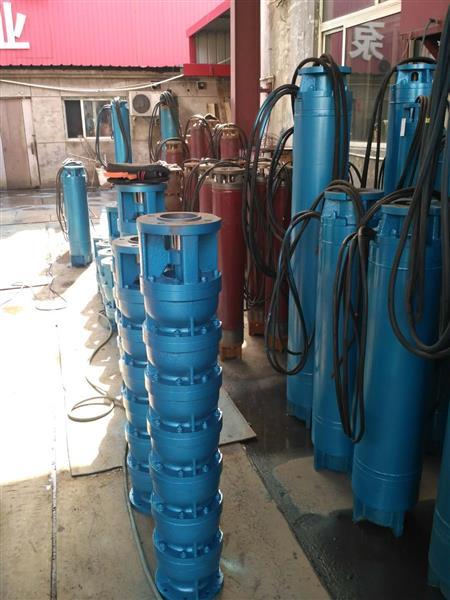 天津37KW温泉刀剑井用热水深井泵,潜成热水泵耐温可达100度
