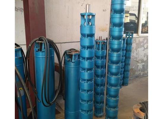 天津37KW温泉井用热水深井泵,潜成热水泵耐温可达100度