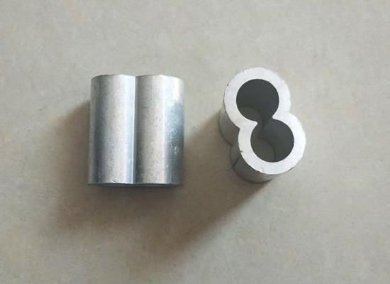 M8椭圆形铝套 钢丝绳铝扣配件 夹头M3 M4
